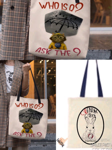 Who Is Q Ask The ? Tote Bag