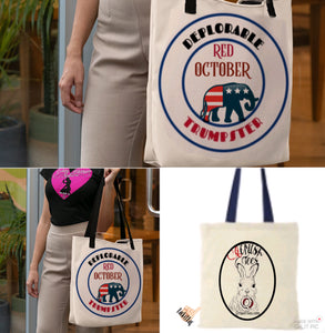 Red October Deplorable Trumpster Tote Bag