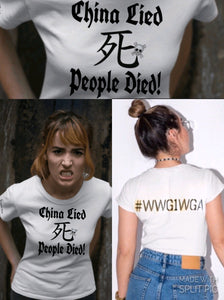 China Lied People Died Death Symbol Tee