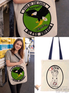Bless America Eagle Tote Bag