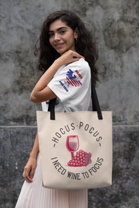 Need Wine To Focus Tote Bag