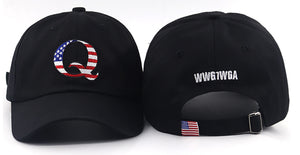{IN STOCK SOON}American Q Embroidered Cap WWG1WGA On Back