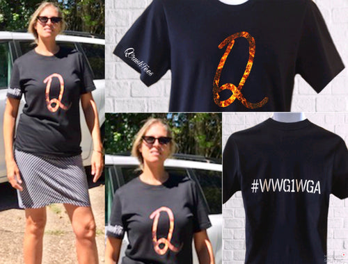 Flaming QAnon Tee