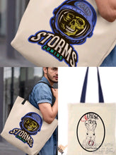 Load image into Gallery viewer, Pain Storms Coming Skull Tote Bag