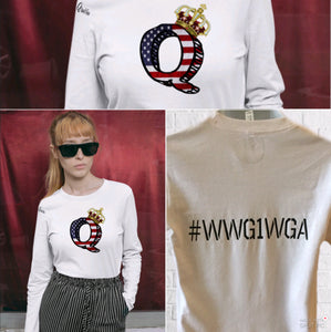 Crown Q Anon Long Sleeve