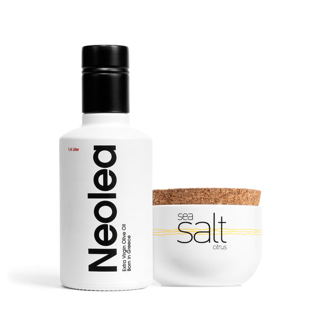Olive Oil 250ml & Sea Salt Set