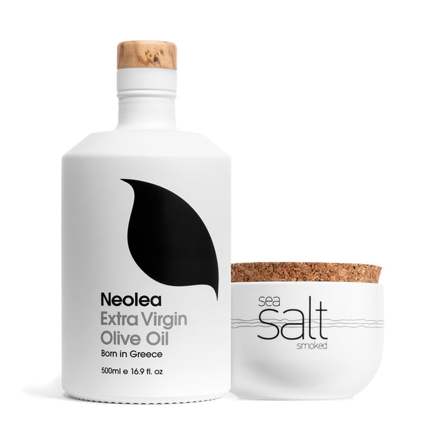 Olive Oil 500ml & Sea Salt Set