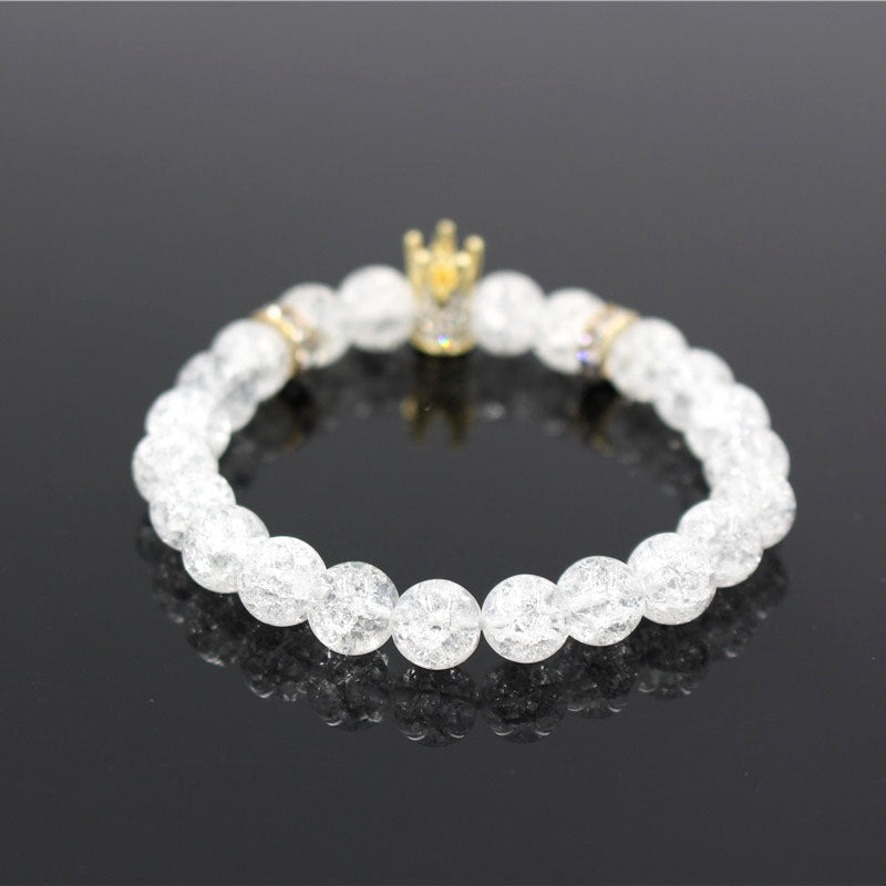 The Snow White Crown Beaded Bracelet