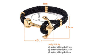 Classic Anchor Leather Bracelets