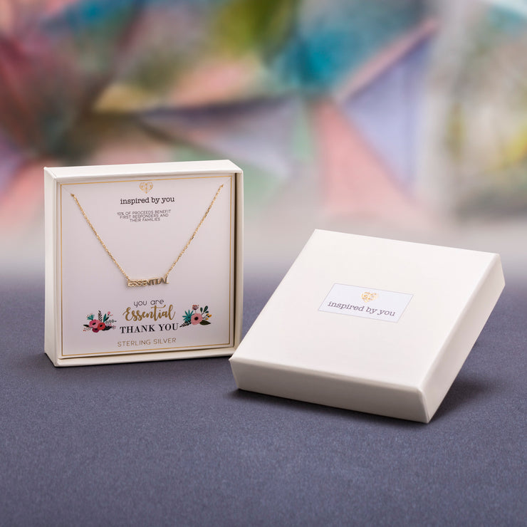 Sterling Silver Pendant Necklace with Inspirational Gift Box