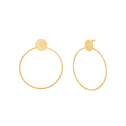 Catherine Malandrino Large Polished Circle Hoop Post Earrings (Multiple Colors Available)
