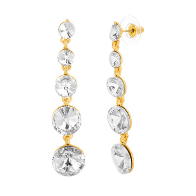 Catherine Malandrino Graduated Tier Rhinestone Drop Earrings (Multiple Colors Available)