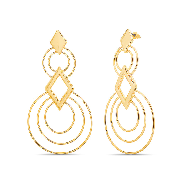 Catherine Malandrino Striped & Twisted Dangle Earrings