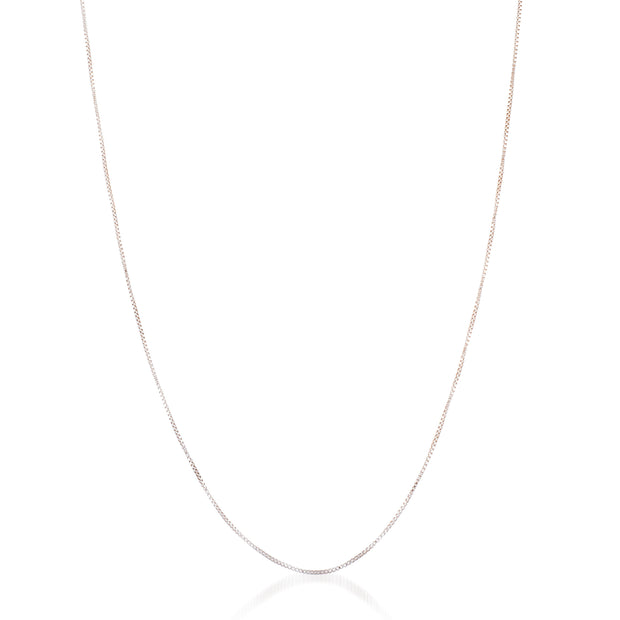 "24""  .75mm Box Chain Necklace in Sterling Silver"