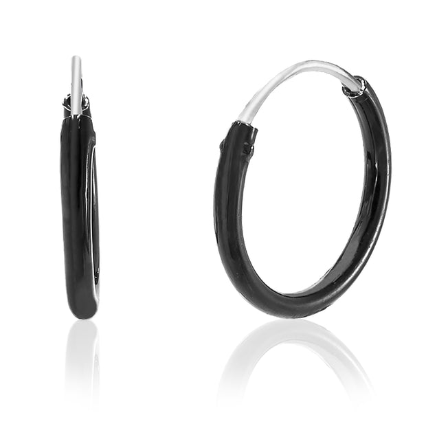 10mm Sterling Silver Endless Hoop Earrings