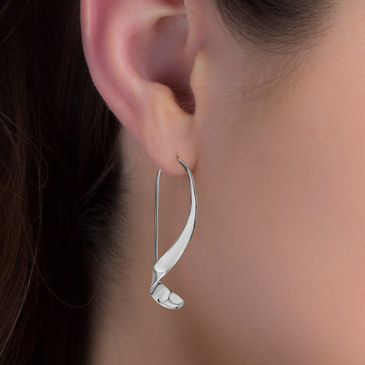 Polished Sterling Silver Threader Earrings