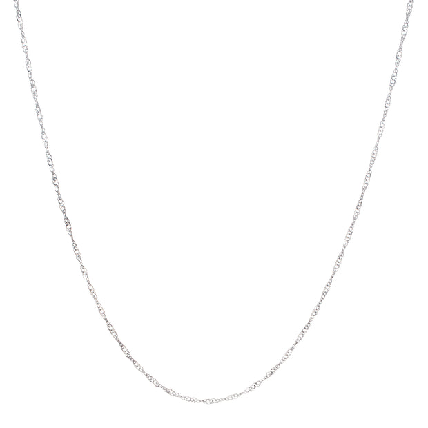 "20"" Thin Twisted Rope Chain Necklace in Sterling Silver"