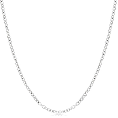 1mm Cable Chain Necklace in Sterling Silver