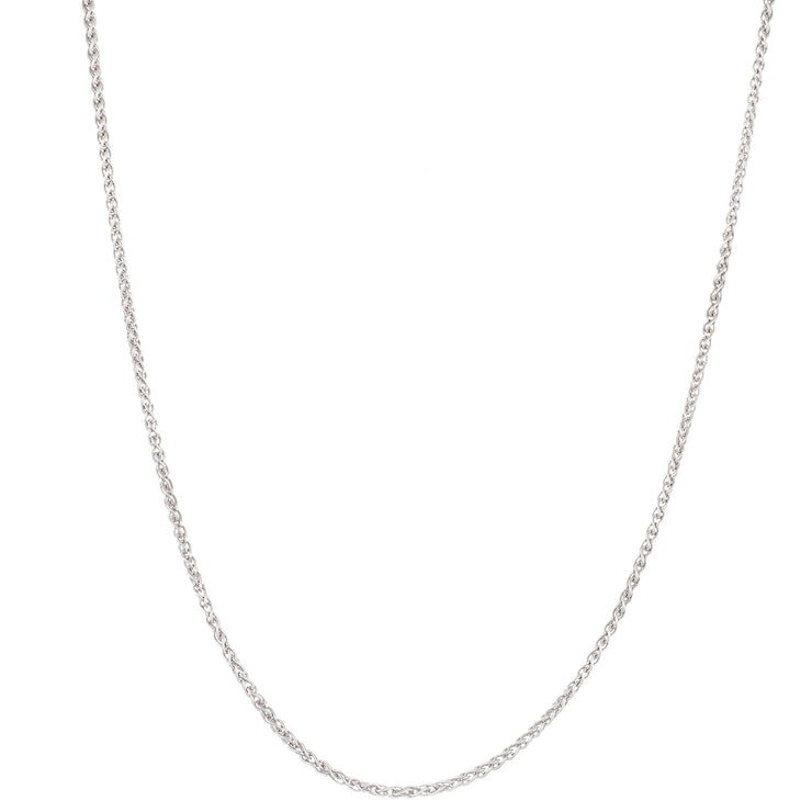 "20"" 1.5mm Wheat Chain Necklace in Sterling Silver"