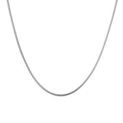 1.5mm Popcorn Chain Necklace in Rhodium Plated Sterling Silver