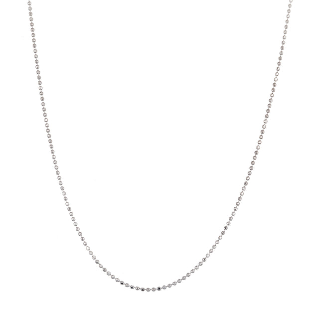 "18"", 20"", 22"" or 24"" Bead Chain Necklace for Women in 925 Sterling Silver"