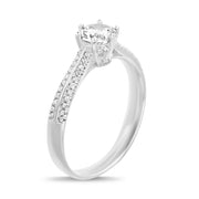 Cubic Zirconia Sterling Silver Engagement Ring