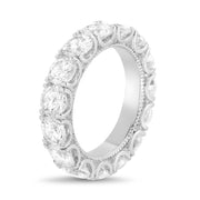 Cubic Zirconia Eternity Band in Rhodium Plated Sterling Silver