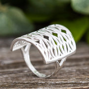 Sterling Silver Lace Style Filigree Ring