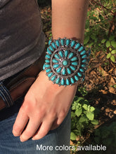 Load image into Gallery viewer, Large turquoise cuff
