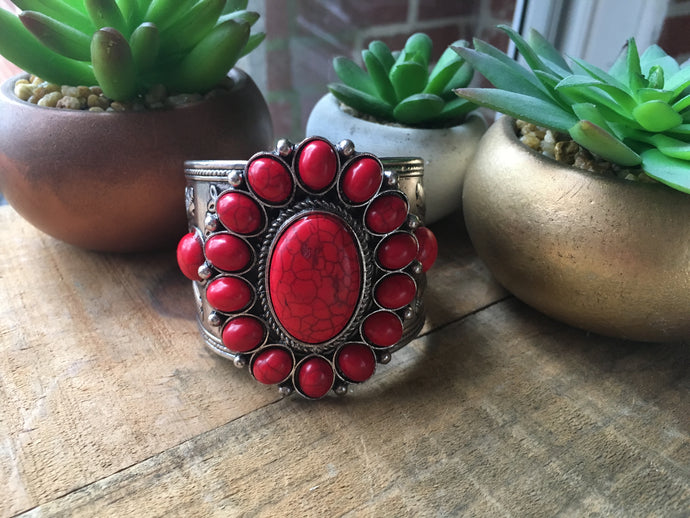Large round red cuff