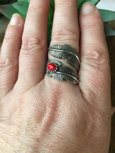 Crazy horse feather ring