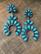 Load image into Gallery viewer, Squash blossom earrings turquoise