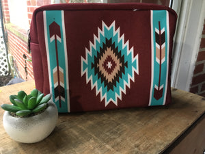 Diamond mesa cosmetic bag