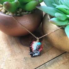Load image into Gallery viewer, Indian chief necklace set