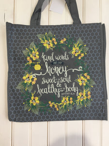 Kind words shopping tote