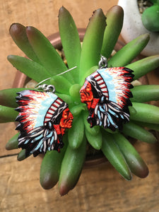 Indian chief earrings