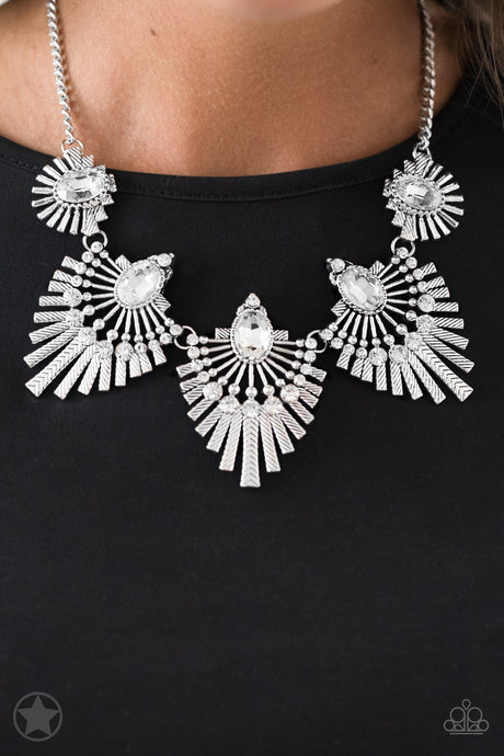 Paparazzi Accessories Miss YOU-niverse - Silver Blockbuster Necklaces - Lady T Accessories