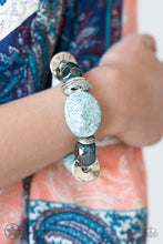 Load image into Gallery viewer, Paparazzi Accessories Glaze of Glory - Blue Blockbusters Bracelets