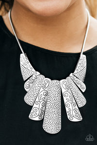Paparazzi Accessories Untamed - Silver Necklaces - Lady T Accessories
