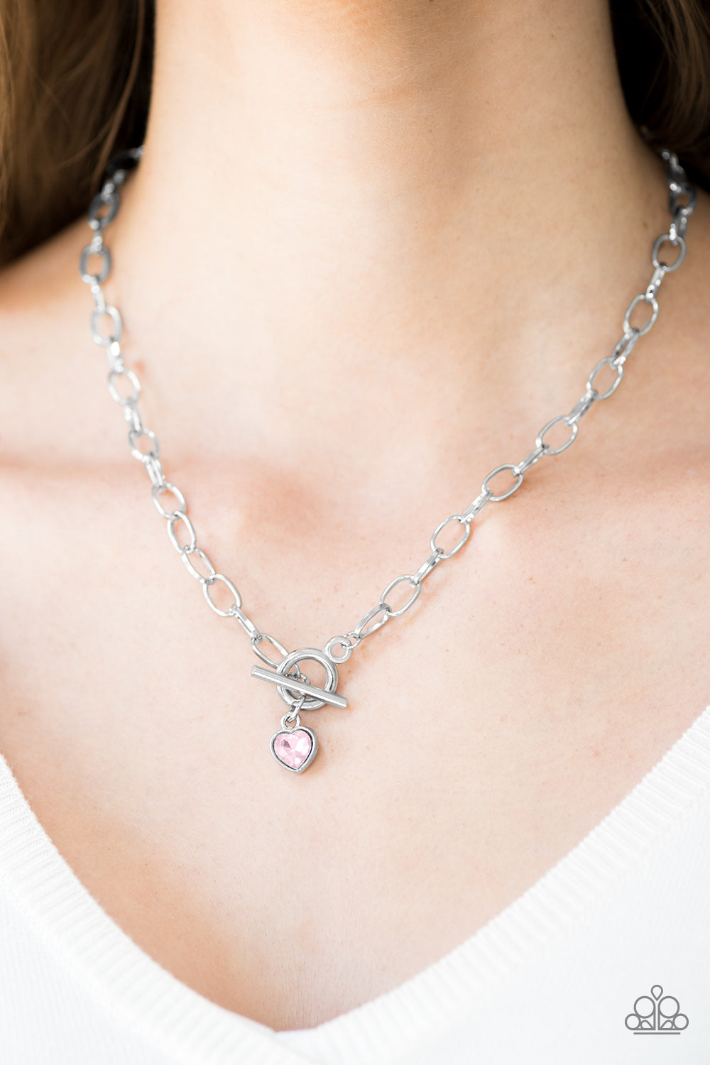 Paparazzi Accessories Let Your Heart Shine - Pink Necklaces - Lady T Accessories