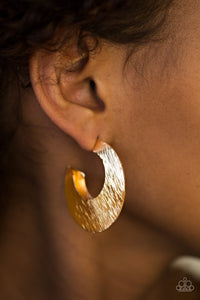 Paparazzi Accessories Mad About Shine - Gold Earrings - Lady T Accessories