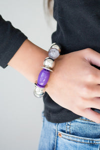 Paparazzi Accessories Bay After Bay - Purple Bracelets  - Lady T Accessories
