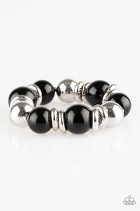 Paparazzi Accessories Rockin Rockefeller - Black Bracelets - Lady T Accessories