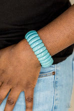 Load image into Gallery viewer, Paparazzi Accessories Peacefully Primal - Blue Bracelets