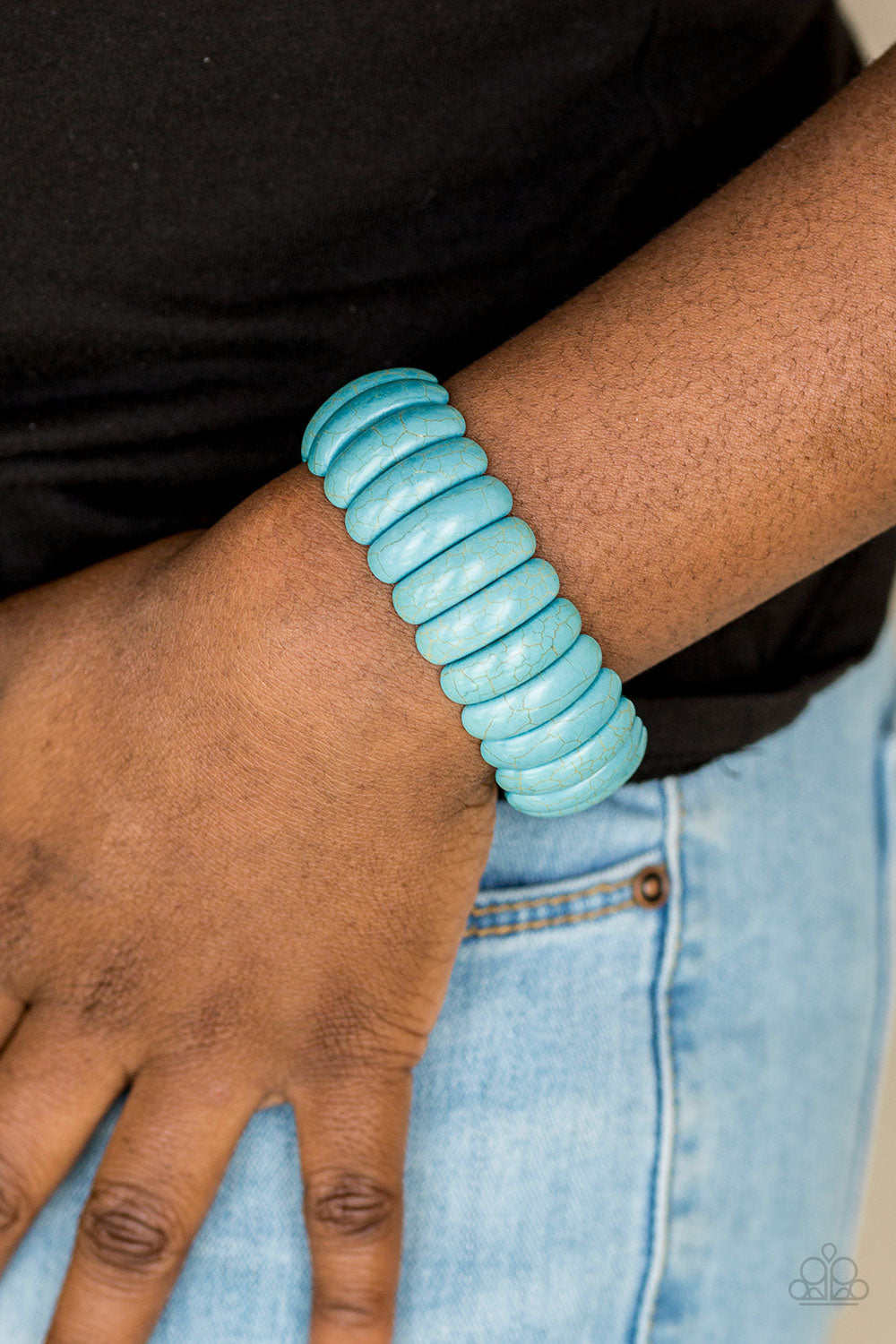Paparazzi Accessories Peacefully Primal - Blue Bracelets
