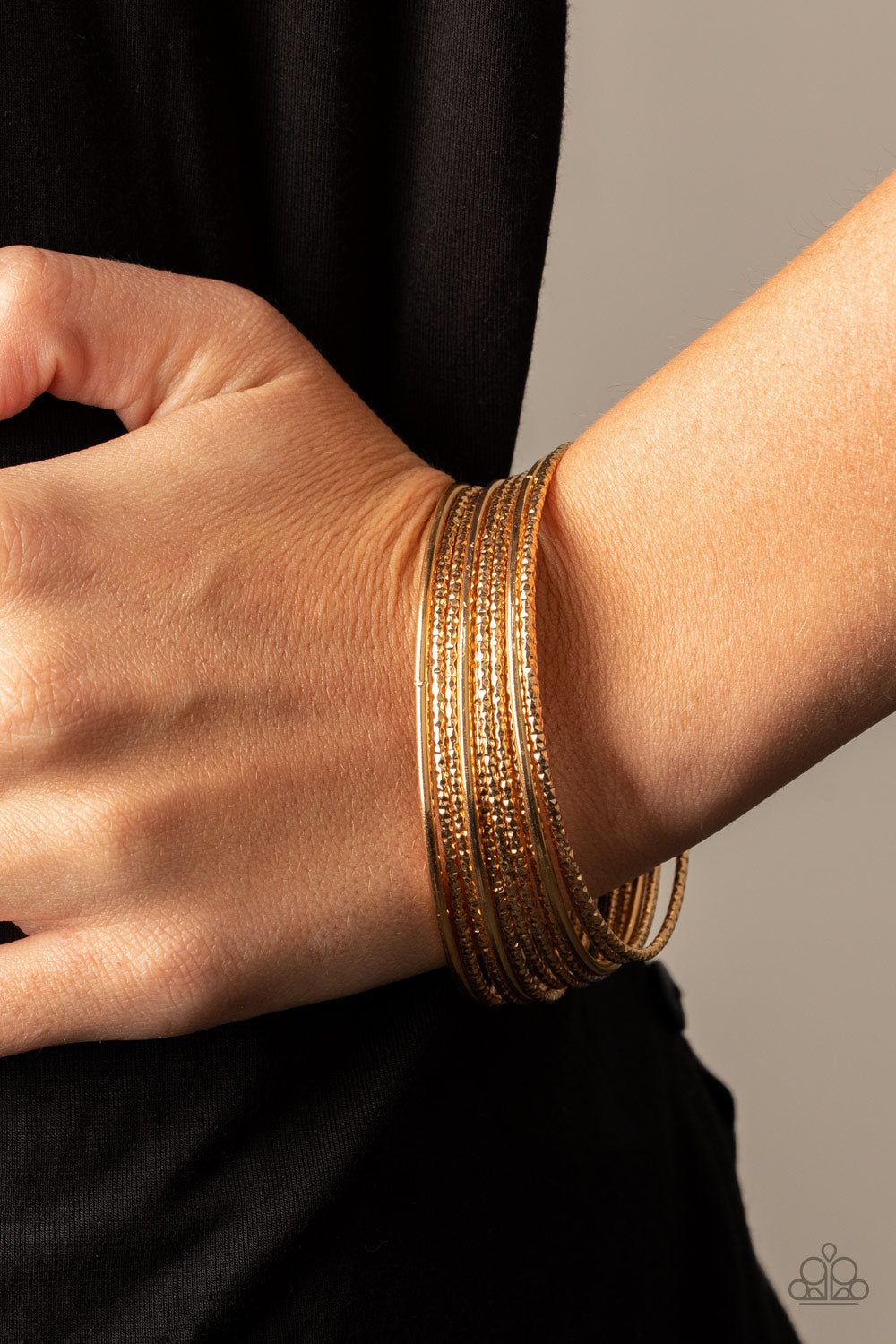Paparazzi Accessories Bangle Babe - Gold Bracelets - Lady T Accessories