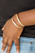 Load image into Gallery viewer, Paparazzi Accessories Palm Trees and Pyramids - Gold Cuff Bracelets - Lady T Accessories