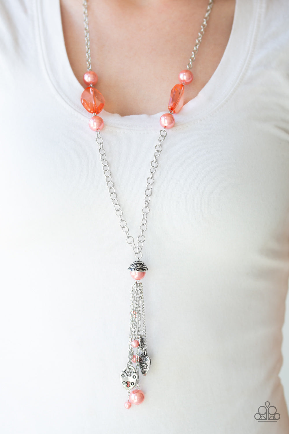 Paparazzi Accessories Heart-Stopping Harmony - Orange Necklaces - Lady T Accessories