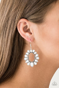 Paparazzi Accessories Fashionista Flavor White Earrings - Lady T Accessories