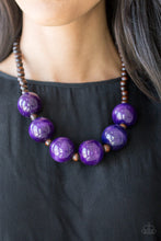 Load image into Gallery viewer, Paparazzi Accessories Oh My Miami - Purple Wood Necklaces - Lady T Accessories